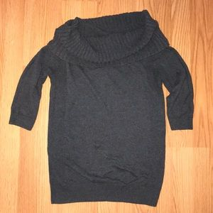 Express wide neck or off the shoulder(s) sweater